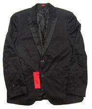 Hugo-Hugo Boss Red Label Men's Black Adaon Two Button Slim Fit Sport Coat Blazer