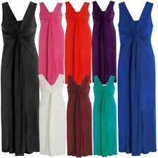 Femmes Nœud Tordu Panel Grec Poitrine Femme Long Robe Longue Soirée 16-26