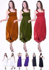 dress layered full skirt 3/4 length s m l xl womens fashion