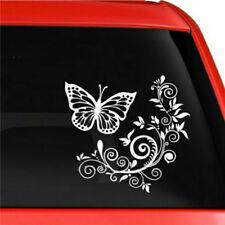 Car Sticker Butterfly Flower Pull Car Rear Windshield  Decal  Decoration N7