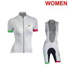 2019 Women team Cycling Jersey Short Sleeve Clothing MTB Bike Bib Shorts Set X71