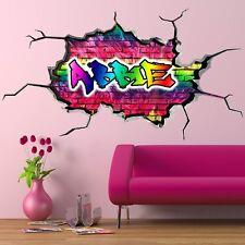 3D KIDS PERSONALIZED GRAFFITI CUSTOM NAME WALL ART STICKER DECAL MURAL WSDPGN44