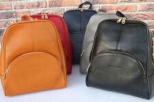 LEDER Rucksack Umhängetasche Unitasche Damentasche Leather Backpack  #140