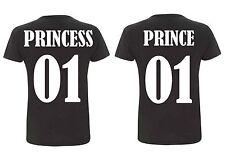 Kinder Rundhals T-Shirt PRINCE & PRINCESS  *Wunschzahl*