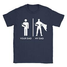 Tuo padre mio PAPA 'T-shirt Padre's Giorno Regalo Super eroe Regalo Divertente Top Tee