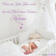 WANDTATTOO Happy Baby Spruch Liebe Leben Mobilee Baby Wandsticker Wandaufkleber