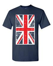 British Flag Union Jack United Kingdom Flag Britain Men's Tee Shirt 1143