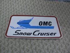 "Omc, Snow Cruiser, Outboard Marine Corporation, Snowmobile, 4-1/2"" x 2-1/2"""