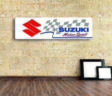 Suzuki Sign Vinyl Banner Flag  Garage Workshop Adversting Many Size