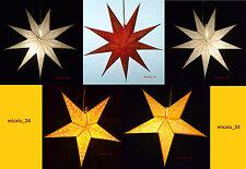 Weihnachtsstern Papierstern Faltstern  Fensterstern 5- oder 9 Zacken 60cm NEU