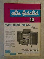 ALTA FEDELTA 10/1959 ALTOPARLANTI OSCILLATORI AUDIO FILTRO PASSA-ALTO DIFFUSORE