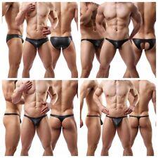 Neu Herren Unterhose Schwarz Shorts Slips Jockstrap Thong Unterwäsche M L XL