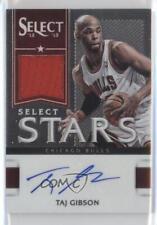 2012 Panini Select Stars Jersey Autographs 21 Taj Gibson Chicago Bulls Auto Card