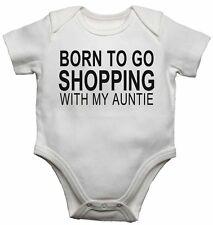Born to Go Shopping mit Meine Tante - Neu Baby Westen Body für Jungen, Mädchen