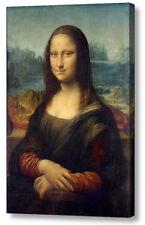 LEONARDO DA VINCI'S Mona Lisa repro box in tela Stampa A4, A3, A2, A1