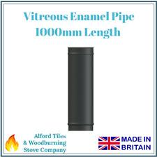 "1000mm Vitreous Enamel Flue Pipe 5"" and 6"" - Multi Fuel Stoves"