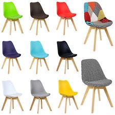 Esszimmerstühle Design Stuhl Polsterstuhl Kunstleder Holz Essstuhlgruppe #713-24