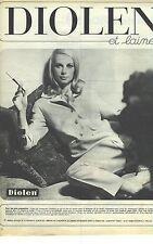 PUBLICITE ADVERTISING  1965  DIOLEN & LAINE textiles