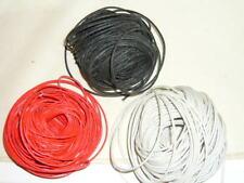 Cable Electrique Textile pour Guitare 22AWG 0,33mm² Noir Rouge Blanc au mètre