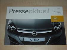 40612) Opel Astra Pressestimmen Prospekt 07/2005