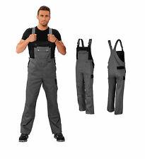 Latzhose Montagehose 42-64 Arbeitslatzhose Arbeitshose grau-schwarz Hose TOP