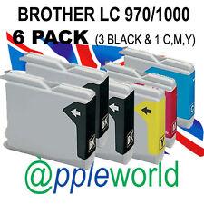Paquete De 6 Cartuchos de Tinta Compatible con LC970/LC1000] original de [no hermano