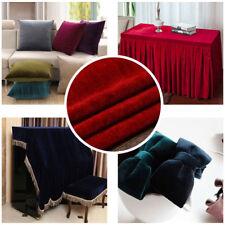 Velvet Fabric Upholstery Curtain Cloth Dress Tablecloth Sofa DIY Fabric Decor