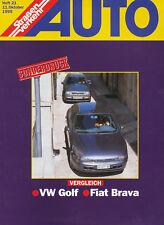 FIAT BRAVA VW Golf pressione speciale auto trasporto stradale 21/95 macchine Fuoristrada test 1995 Italia