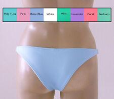 Brazilian Bikini Bottom in White, Pink, Coral, Lavender, Mint, Blue,Turquoise