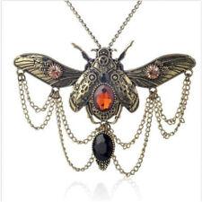 Vintage Beetle Bronze Gothic Choker Retro Steampunk Necklace Collar Pendant
