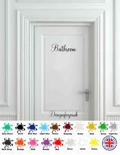 Bathroom Door - Wall Art Decal - Vinyl Sign / Sticker Toilet WC Pub Sign