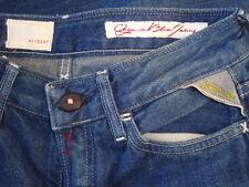 NWT REPLAY Organic Blue Denim Skinny Jeans Made in ITALY Sz 25x32