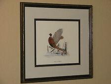 Vintage Louis Raymer Ring-Necked Pheasant Framed Print