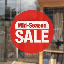 Mid Season Sale Window Stickers / Sale Shop Cling Window Stickers