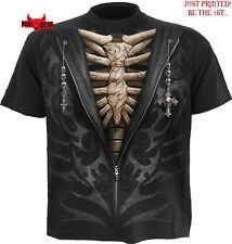 SPIRAL DIRECT UNZIPPED T-Shirt,Tattoo/Rock/Metal/Skeleton/Tribal/SM L XL XXL/Top