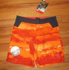 The North Face Boys Orange Navy Board Shorts 6 NWT