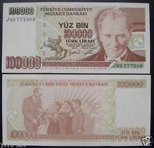Turkey Paper Money 100000 Lira UNC