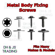 Metal Car Body Screws Trim Bumper Door Panel Retainer Fastener Moulding Torx Hex