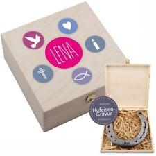 Hufeisen-Box Konfirmation / Firmung / Kommunion (Fisch) Geschenk Mädchen pink