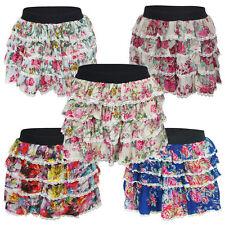 Señoras Para Mujer Chicas Floral Tutu Dance Hen party Corto Mini elástica Falda