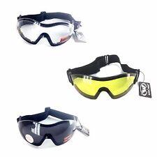 Global Vision Biker Goggle, Z-33, Assorted Lenses Color w. Adjustable Strap