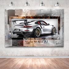 Porsche 911 GT2 RS Auto Sportwagen Wandbilder Bilder auf Leinwand Abstrakt 2252A