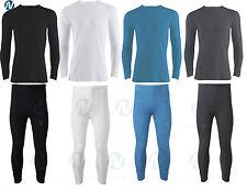 Da Uomo Termica Set Intimo Manica Lunga Top Shirt Canotta & Mutandoni Pantaloni