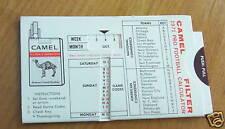 1971 Pro Football Calculator Schedule, Camel Cigarettes
