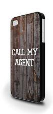 Llama a mi Agent Wooden Hipster Textura Funda Para iPhone 4/4s 5/5s 5c 6 6 Plus
