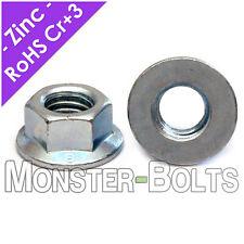 Metric Zinc Hex Flange Nuts DIN 6923 Class 8 Alloy Steel - M5 M6 M8 M10 M12 M14