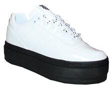 K-SWISS Gstaad Platform Sneaker Damen Plateau 5 cm Schuhe weiß Lackleder
