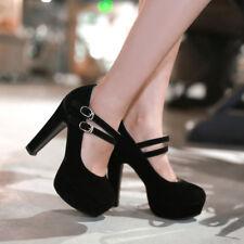 Womens Fashion Faux Suede High Heels Platform Party Pumps Shoes UK Size 1--11