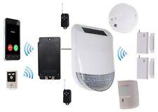 Battery GSM Dialler with Wireless Solar Siren Alarm (kit 6)
