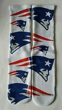 Custom New England Patriots dry fit socks V VI VIII bred nfl football boston